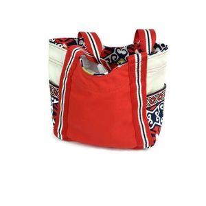 Vera Bradley color-block canvas tote in Sun Valley